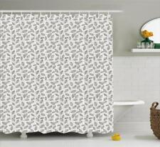 Colorful Botany Pattern Shower Curtain Fabric Decor Set with Hooks 4 Sizes