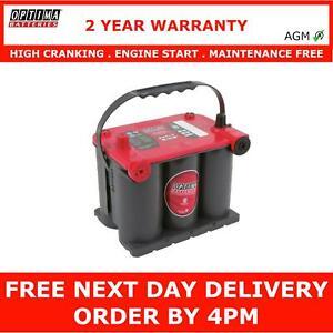 Optima AGM Starter Battery RTU 3.7 Red Top 12V High Cranking 2 Yr Warranty