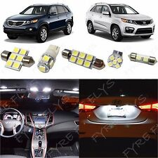 8x White LED lights interior package kit for 2011-2013 Kia Sorento KS1W