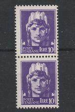 FRANCOBOLLI 1929 REGNO IMPERIALE L. 10 IN COPPIA MNH D/4706