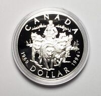 Canada 1994 RCMP Dog Team .925 Sterling Silver $1.00 One Dollar Coin Proof