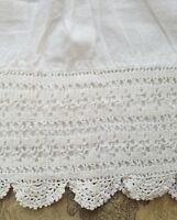 A37 Antique Crochet Slip Petticoat Remnant Reenact Costume Salvage Fabric