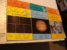 Vintage UFO info: 6 ISSUES OF SKY AND TELESCOPE 1957-1969
