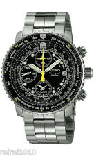 Seiko SNA411 Flightmaster Pilot Alarm Chronograph 200m Men's Watch SNA411P1