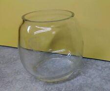 """H-3 (76??) Small Clear V&O Replacement 3"""" Glass Globe  NOS VTG Rare USA"""