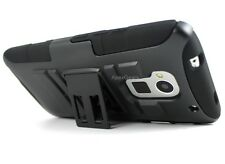 Black Rhino Hybrid Holster Belt Clip Stand Hard Cover Case For HTC One Max