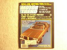 Motor Trend 1980 June Olds Cutlass Thunderbird TR8 V-8 Chevrolet Wagons BMW 528