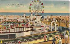 Playland on the Beach Wildwood By The Sea NJ Postcard Amusement Park