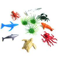 8pcs Marine Life Sea Animal Set Shark Kids Gift Dolphin Turtle Crab Model Toy MW