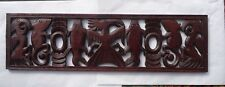 hand carved wood animal plaque panel safari hanging wall