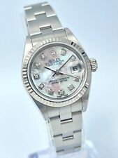 Rolex Datejust Oyster Perpetual Ladies 26mm 79174 Pearl Diamond Dial White Gold