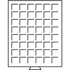 Leuchtturm Münzbox 48 eckige Fächer bis 30 mm Ø, grau