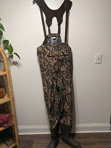 Gently Worn CABELAS Camo Insulated Chest WADERS Men's 9R DPHNTSBYNSG