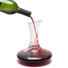 Bella Vino Wine Decanter Crystal Carafe/Aerator Wide Base for Vivid Aerating