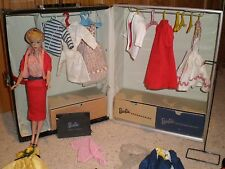 VINTAGE 1958 #3 PONYTAIL BARBIE DOLL BLONDE  MATTEL 1961 CASE, CLOTHES & ACC