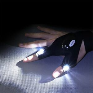 1pc Fingerless Gloves With LED Night Light Durable Camping Riding Equipment