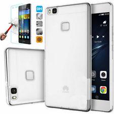 Pellicola Vetro Temperato Antiurto per Huawei P9 Lite + Custodia Silicone Slim