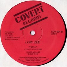 Lori Zee - I Will 12 Inch Vinyl 1987 Covert Records Old School Electro Freestyle