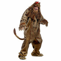 Wizard Of Oz Cowardly Lion Halloween Costume Jumpsuit Shoe Covers Wig Mane S M L