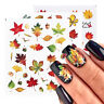 Autumn Style Nail Art Water Transfer Nagel Sticker Maple Leaf Slider Aufkleber