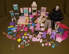 BARBIE 104 pc accessories lot clothes chairs stereo water jug register vintage