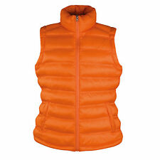 Result Ladies Quilted Padded Body Warmer - Rain Shower Proof and Windproof 12 Orange