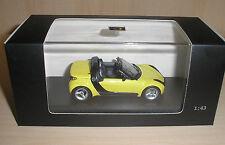 Smart Roadster amarillo (Shine Yellow) en 1:43 de Minichamps