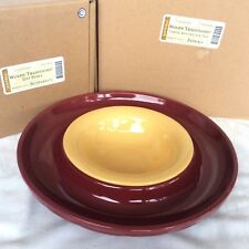 Paprika Cheese Cracker Tray Butternut Dip Bowl Longaberger Redskins Party New