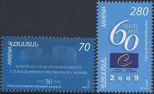 CEPT MITLÄUFER 2009 - ARMENIEN 665 + 666 EUROPARAT + EUROPÄISCHER GERICHTSHOF **