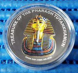 2004/2005 Cambodia 3000 Riels Treasure of Pharaoh Tutankhamun Silver Proof Coin