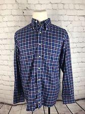 Hathaway Men's Multicolor Plaid Cotton Dress Shirt 16.5 33/34 $89