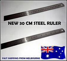 30 cm Stainless Steel Metal Ruler Rule Precision Double Sided Measuring Tool New