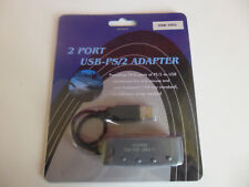 2 PORT USB TO PS2 ADAPTER