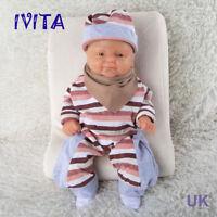 IVITA 14'' Lifelike Silicone Reborn Baby Girl Doll Super Cute Small Soft Baby