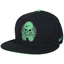 Nike Icon Snapback Hat BLACK Cap Mens New QT SKULL AND DICE sb skateboarding