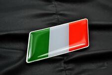 2PCS Italy Italian Flag Emblem Badge FIT Alfa Romeo FIAT Maserati DUCATI
