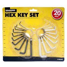 20pc Juego De Llaves Hex Allen Allan Alan Llave herramientas Llave Moto Auto Bmx casa de bricolaje del Reino Unido