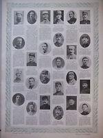 TABLEAU D'HONNEUR 4 PLANCHES N°389 au N°392 DES VICTIMES DE GUERRE 1914/1918