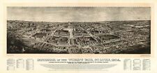 MAP AERIAL PANORAMA ST LOUIS MISSOURI WORLDS FAIR 1904 ART PRINT POSTER LF2573