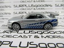 Hot Wheels 1/64 Scale LOOSE Walmart 2 Fast & 2 Furious NISSAN SKYLINE GT-R (R34)
