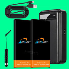 Accessory 2x 6520mAh Battery Wall Charger Usb Cable for Samsung Galaxy S5 Active