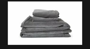 NUGGET Couch Cover Set Harbor Charcoal Suede.. In Hand!!