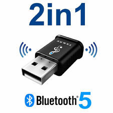 2 in 1 USB Bluetooth 5.0 Transmitter Receiver AUX Audio Adapter for TV/PC/Car UK