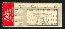 1986 Robert Palmer Concert Ticket Stub Poplar Creek Riptide Addicted To Love