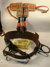 Buckingham Steel Adjustable Length Tree Climbing Spurs/Spikes/Gaffs Kit