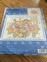 Janlynn Honey Bears Birth Announcement Counted Cross Stitch Kit New