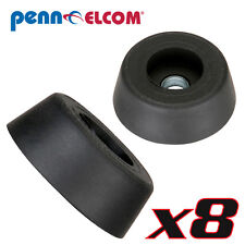 "Eight Pack Penn-Elcom 9120 Rubber Cabinet Foot 0.88"" Dia. x 0.31"" H Heavy-duty"