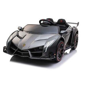 Licensed Lamborghini Veneno ride on car toy for kids - Black- Pre Order ETA 25th