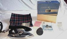VTG ge USA Automatic AC/DC Travel Steam Clothing Iron F19 accessories in box