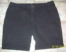 """Riders by Lee Women's Black Jean Shorts Plus Size 26W M * WAIST 48"""" * POCKETS"""